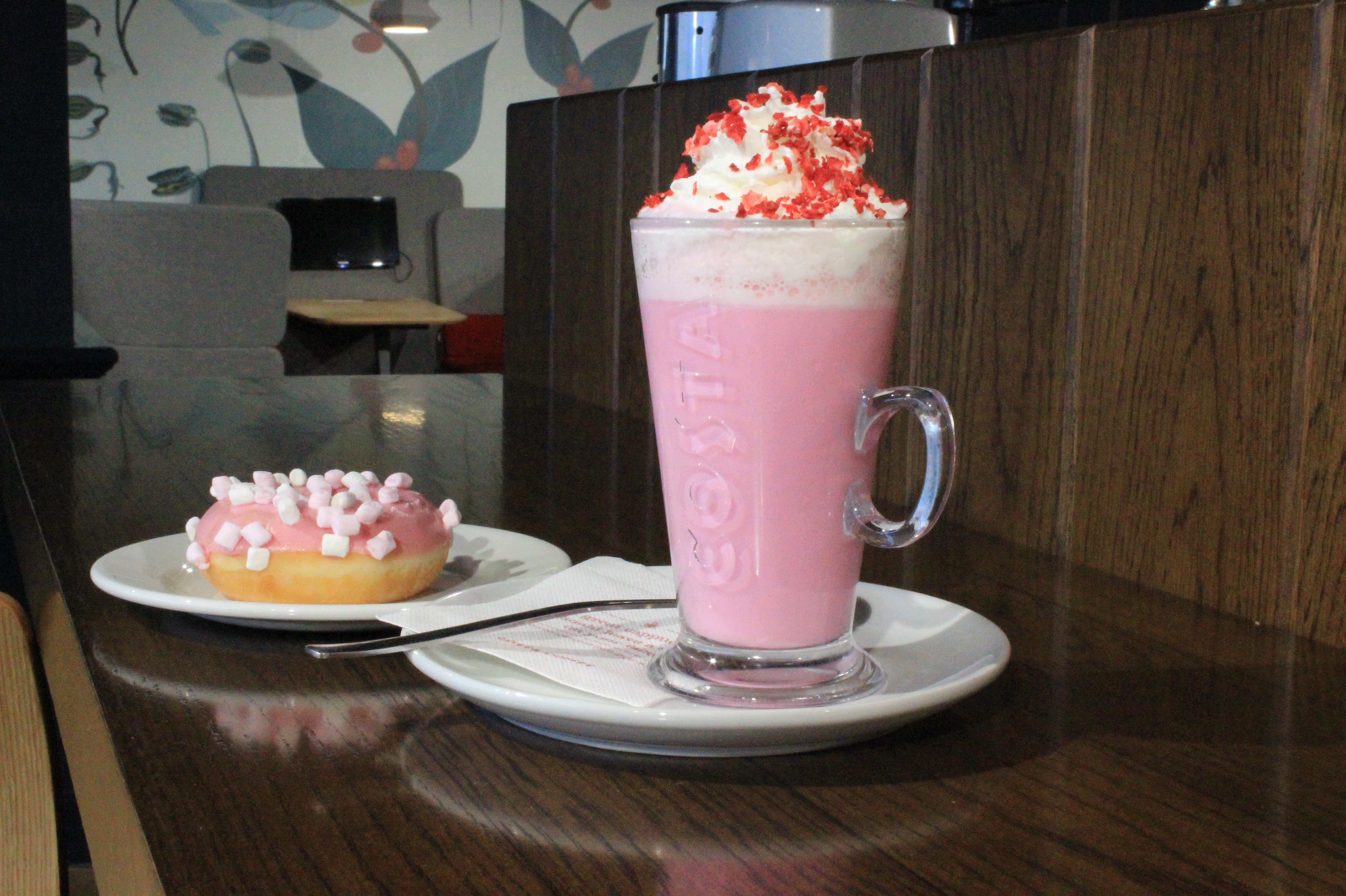 Ruby Hot Chocolate & mellow doughnut