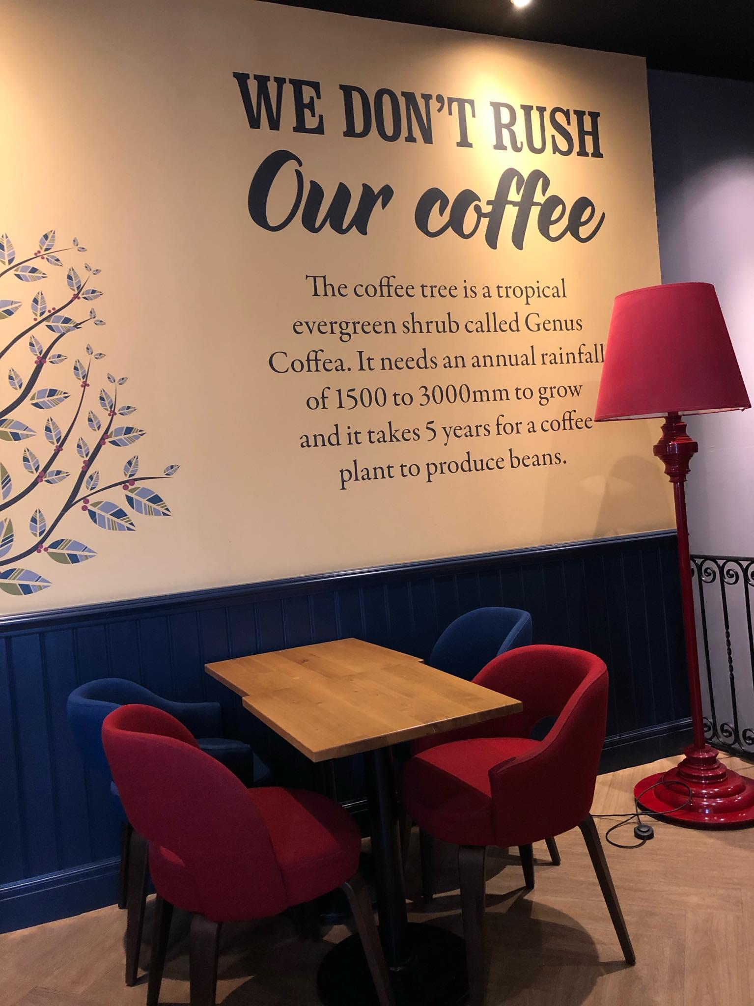 Costa shop decor